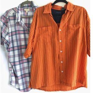 🔥B1G1 Men's 2pc. Lot! Button Down Shirts, Size XL